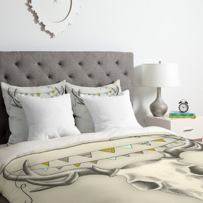 Skull Duvet Cover Set Size: King