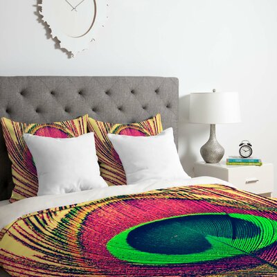 Peacock Duvet Cover Set Size: Queen