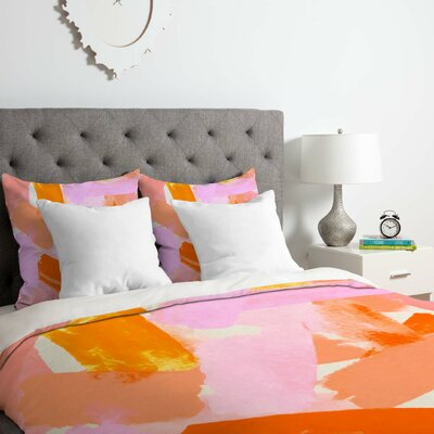 Covered in Blush Duvet Cover Set Size: Twin/Twin XL