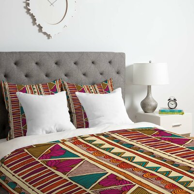 Ethnic Duvet Cover Set Size: Queen