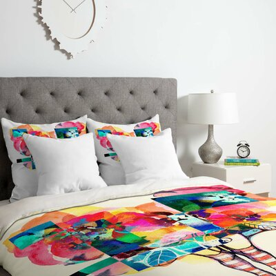 Flower 6 Duvet Cover Set Size: Queen