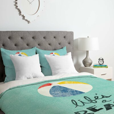 Lifes A Beach Duvet Cover Set Size: Twin/Twin XL