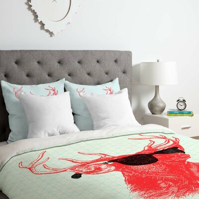 Buck Duvet Cover Set Size: Queen