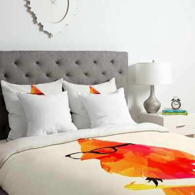 Punk Bird Duvet Cover Set Size: Queen