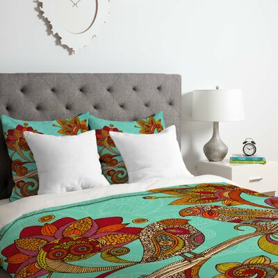 Hello Birds Duvet Cover Set Size: King