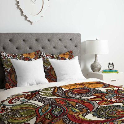 Paradise Bird Duvet Cover Set Size: Queen