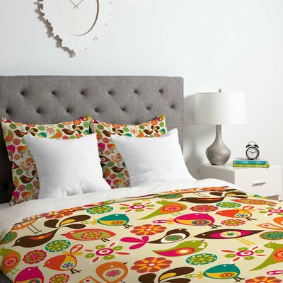 Little Birds Duvet Cover Set Size: Twin/Twin XL