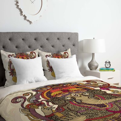 Lord Ganesh Duvet Cover Set Size: Queen