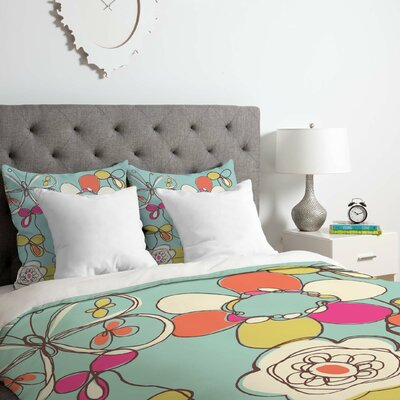 Fun Floral Duvet Cover Set Size: King