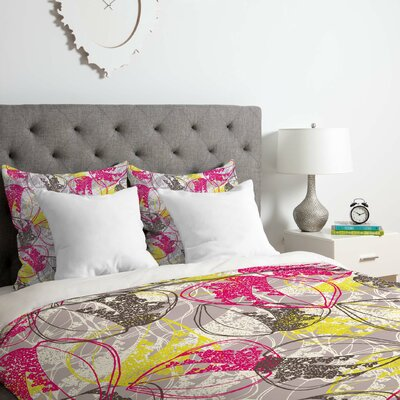 Rachael Taylor Organic Retro Leaves Duvet Cover Set Size: King