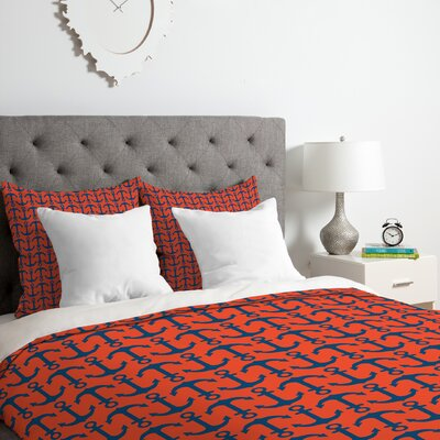 Anchors Duvet Cover Set Size: Queen