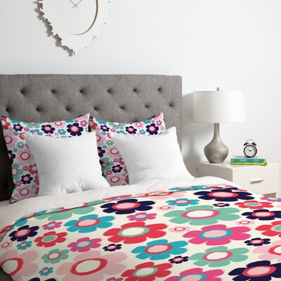Flowers Duvet Cover Set Size: King