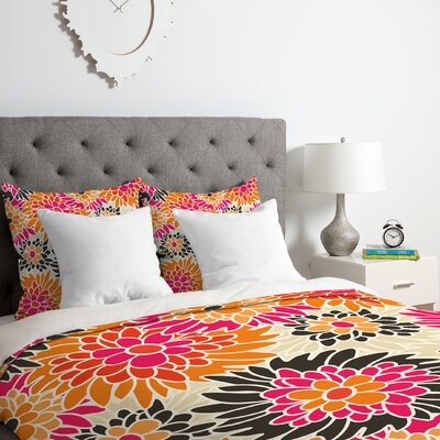 Summer Floral Duvet Cover Set Size: Queen