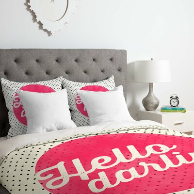 Hello Darling Dots Duvet Cover Set Size: Twin/Twin XL