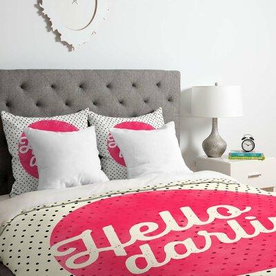 Hello Darling Dots Duvet Cover Set Size: Queen