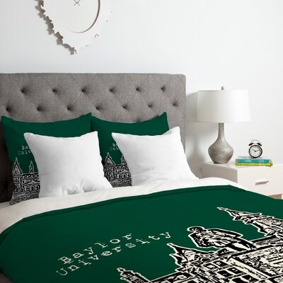 Baylor University Duvet Cover Set Size: King
