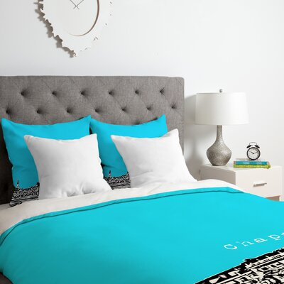 Chapel Hill Duvet Cover Set Color: Blue, Size: King