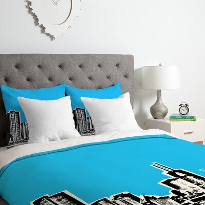 Chicago Duvet Cover Set Size: Queen