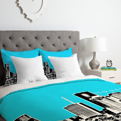 Houston Duvet Cover Set Size: King, Color: Sky