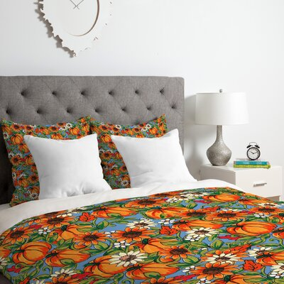 Pumpkin Harvest Duvet Cover Set Size: Twin/Twin XL