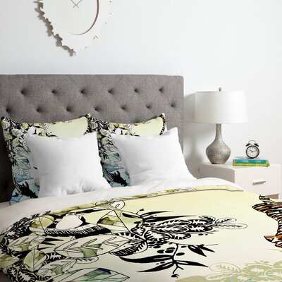 Tiger  Duvet Cover Set Size: King
