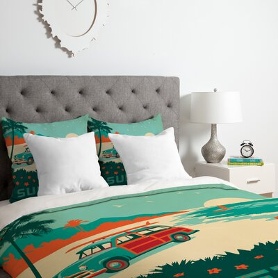 Surfs Up Duvet Cover Set Size: King
