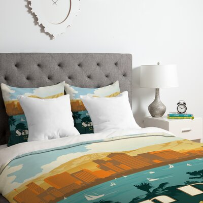 San Diego Duvet Cover Set Size: Twin/Twin XL