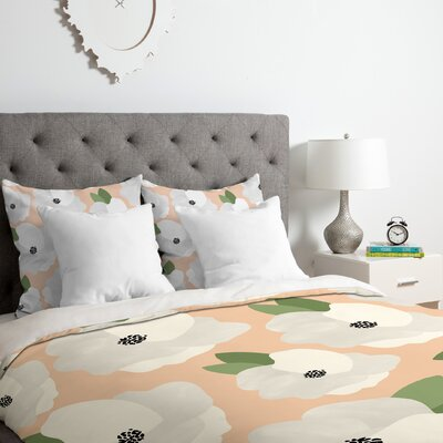 Romantic Floral Duvet Cover Set Size: Queen