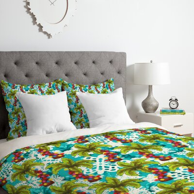Aimee St Hill Tropical Christmas Duvet Cover Set Size: Queen