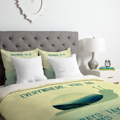 Always Take Your Dreams With You Duvet Cover Set Size: Twin/Twin XL
