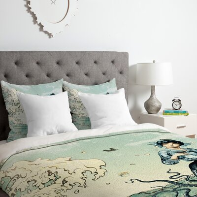 Sea Fairy Duvet Cover Set Size: King