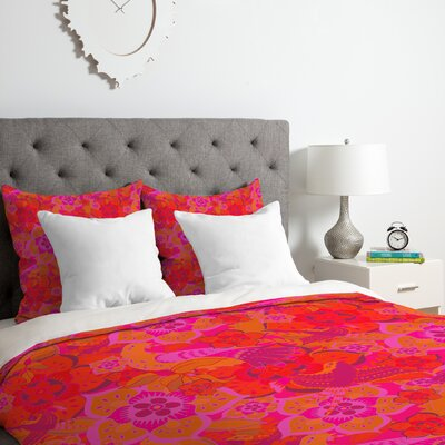 Birds Duvet Cover Set Size: Queen