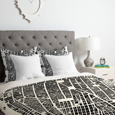 Duvet Cover Set Size: Twin/Twin XL, Color: Black