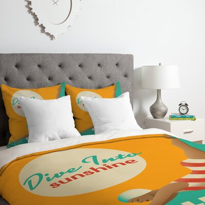 Dive California Duvet Cover Set Size: Queen