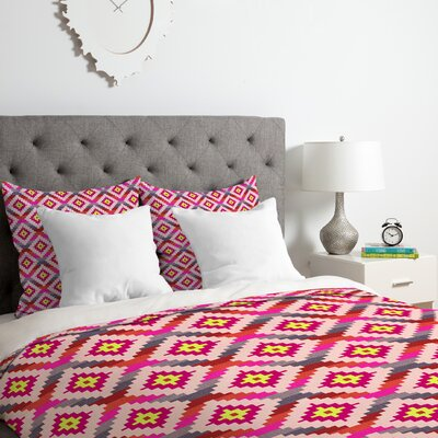 Bianca Aztec Diamonds Bright Duvet Cover Set Size: Queen