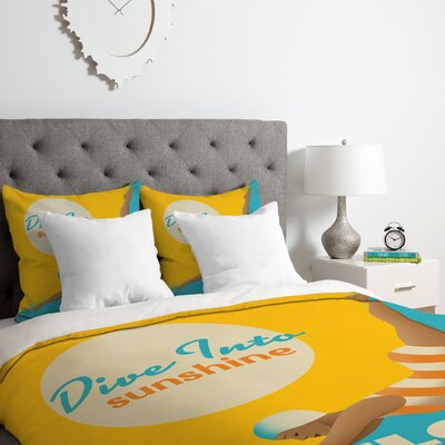 Anderson Design Group Dive Florida Duvet Cover Set Size: Twin/Twin XL