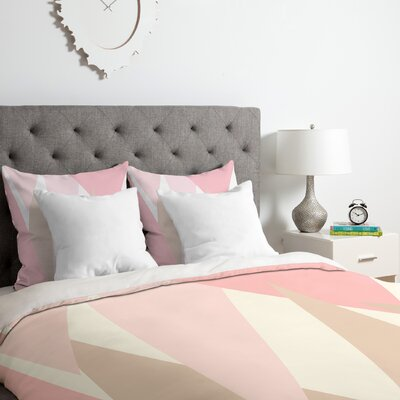 Allyson Johnson Blush Mod Duvet Cover Set Size: King