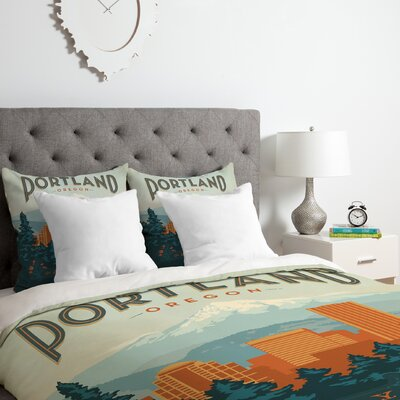 Portland Duvet Cover Set Size: Queen