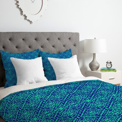 Duvet Cover Set Color: Blue, Size: Queen