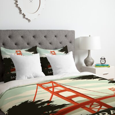 San Francisco Duvet Cover Set Size: Queen