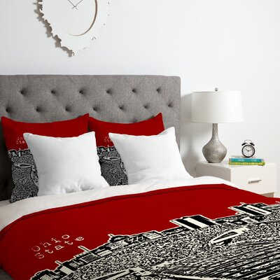 Ohio State Buckeyes Duvet Cover Set Size: Twin/Twin XL