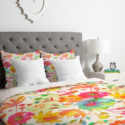 Garden Stain in Day Duvet Cover Set Size: King