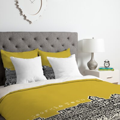 Bird Ave Georgia Tech Duvet Cover Set Size: Twin/Twin XL