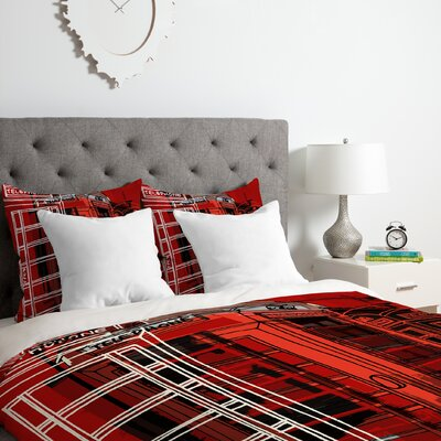 Phone Box Duvet Cover Set Size: Queen