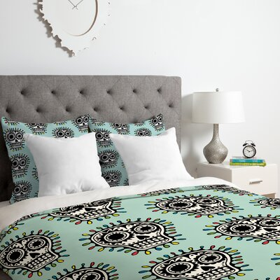 Skull Fun Duvet Cover Set Size: King