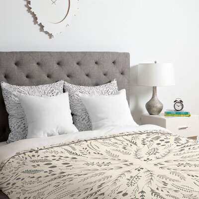 Maze Duvet Cover Set Color: Gray, Size: Queen