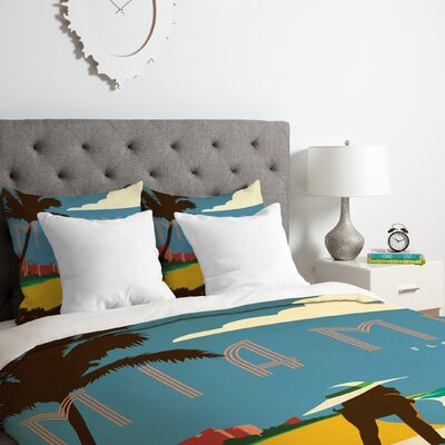 Miami Duvet Cover Set Size: Queen