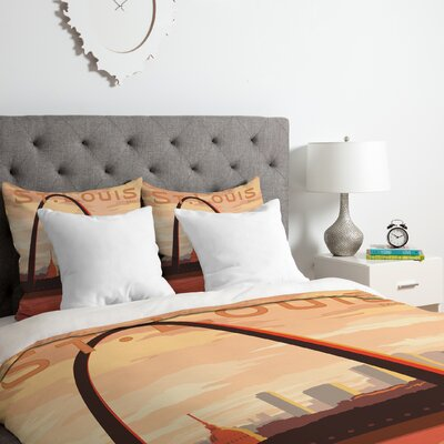St Louis Duvet Cover Set Size: Queen
