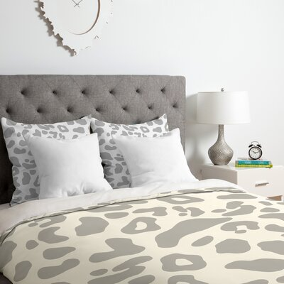 Allyson Johnson Leopard Duvet Cover Set Size: King