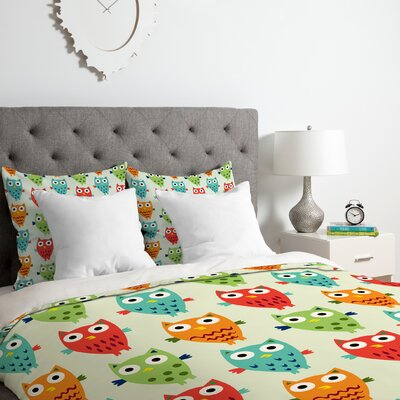 Owl Fun Duvet Cover Set Size: Queen